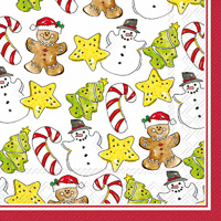 Rosanne Beck Cookie Pattern Lunch Napkins