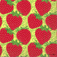 Strawberry Craze Lunch Napkins