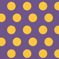 Big Dots Purple/Yellow Lunch Napkins