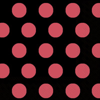 Big Dots Black/Red Lunch Napkins