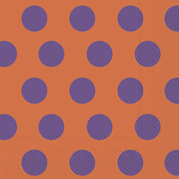 Big Dots Orange/Purple Lunch Napkins