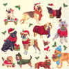 Christmas Dogs Lunch Napkins