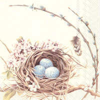 Bird's Nest with Eggs Lunch Napkins