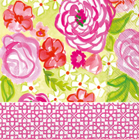 Rosanne Beck Rose Garden Lunch Napkins