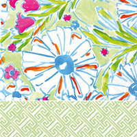 Rosanne Beck Blue Garden Lunch Napkins