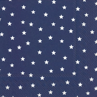 Little Stars Dark Blue Lunch Napkins