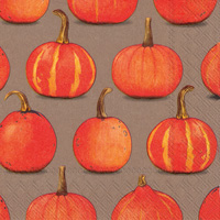 Pumpkin Party Brown Lunch Napkins