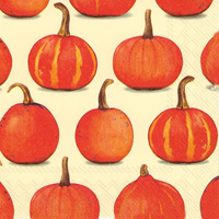 Pumpkin Party Cream Lunch Napkins