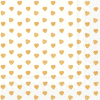 My Little Sweetheart Gold Lunch Napkins