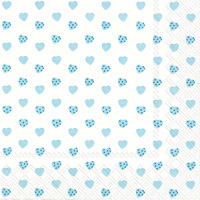 My Little Sweetheart Light Blue Lunch Napkins