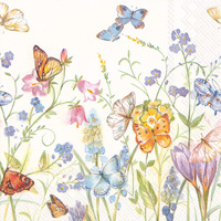 Butterflies and Blossoms Lunch Napkins