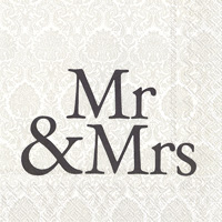 Mr & Mrs Black Lunch Napkins