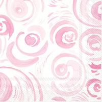 Happy Circles Light Rose Lunch Napkins