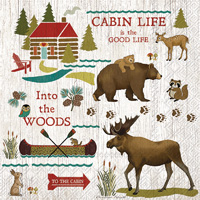 Cabin Life Lunch Napkins