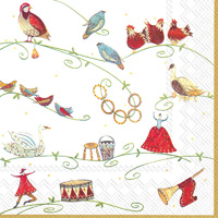 12 Days of Christmas Lunch Napkins