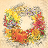 Beautiful Harvest Lunch Napkins