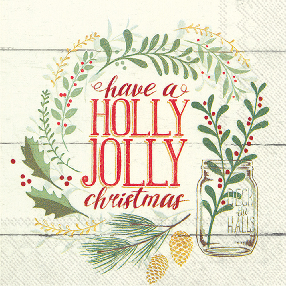 Holly Jolly Christmas Lunch Napkins