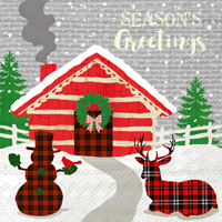 Season's Greetings Lunch Napkins