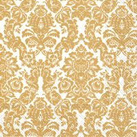 Palais White/Gold Lunch Napkins