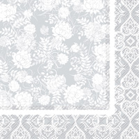 Classic Garden Silver Lunch Napkins