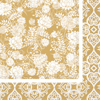 Classic Garden Gold Lunch Napkins