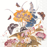 Ornamental Flowers Lunch Napkins