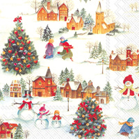 Happy Christmas Time Lunch Napkins