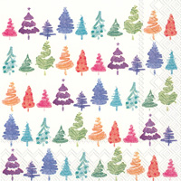 Colorful Xmas Lunch Napkins