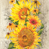 Le Tournesol Light Brown Lunch Napkin