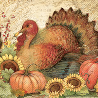Filigree Turkey Lunch Napkin