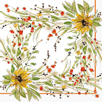 Rosanne Beck Sunflower Medley Lunch Napkin