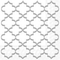 Moroccan Trellis Silver Lunch Napkins