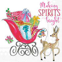 Rosanne Beck Making Spirits Bright Lunch Napkins