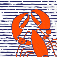 Waterline Lobster Lunch Napkins
