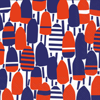 Red White and Buoy Lunch Napkins