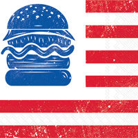 Eat Drink Host All American Hamburger Lunch Napkins