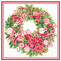 Candy Ribbon Wreath Lunch Napkin