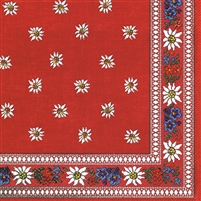 Edelweiss Red Lunch Napkins