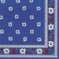 Edelweiss Blue Lunch Napkins