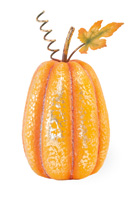 Gold Sparkle Tall Pumpkin