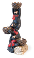 Black Bear Party Tealight Holder