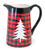 Buffalo Plaid Pitcher