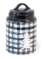Buffalo Plaid Black Canister