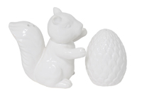 Squirrel & Nut White Salt & Pepper Set