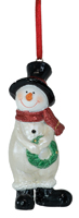 Sparkles Wreath Snowman Ornament