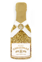 My Design Co. Merry Christmas Gold Champagne Cracker Card