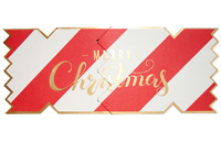 My Design Co. Merry Christmas Candy Stripe Cracker Card