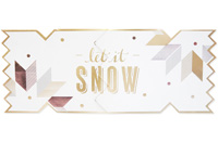 My Design Co. Luxe Snowflake Cracker Card