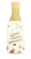 My Design Co. Anniversary Champagne Cracker Card