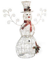 Reinhold Large Wire LED Snowman